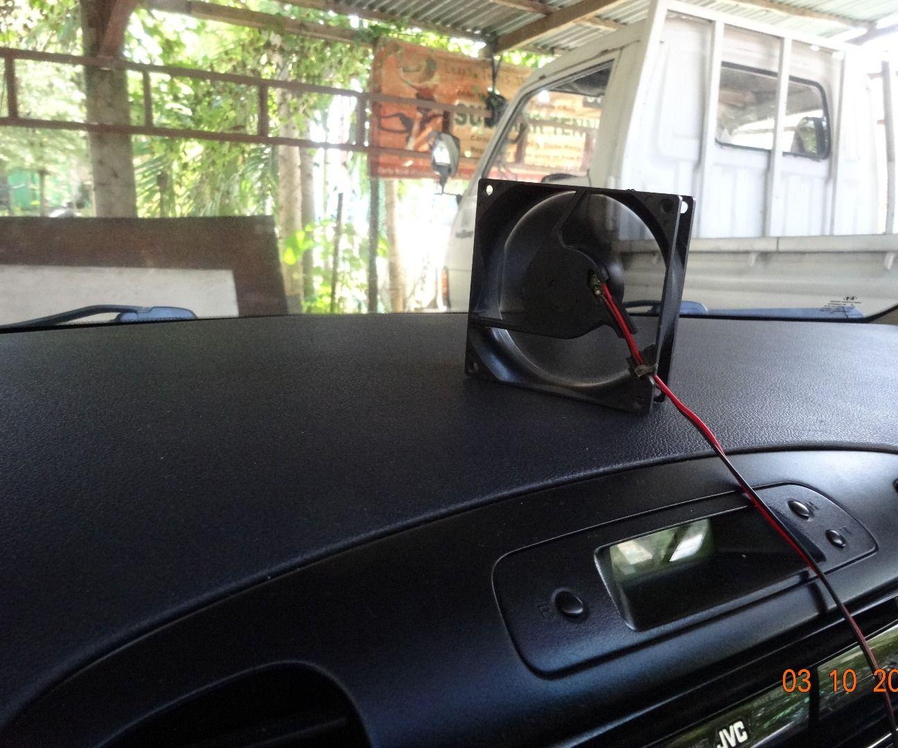 DIY Car Cooling Fan