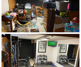 Home Gym Conversion - Before and After