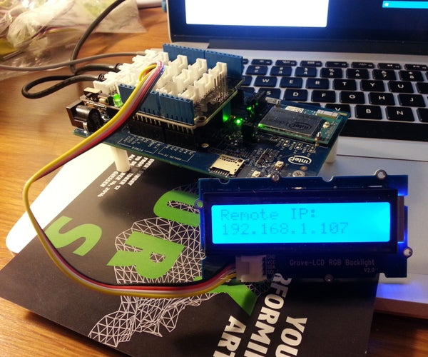Intel IoT Edison Web Controlled LED
