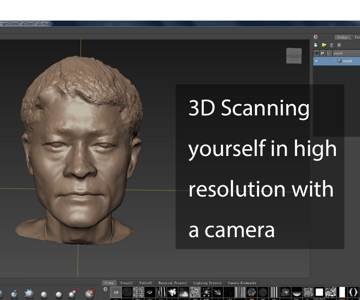 3D Scanning Yourself in High Resolution With a Camera