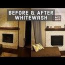 Whitewashing a Fireplace