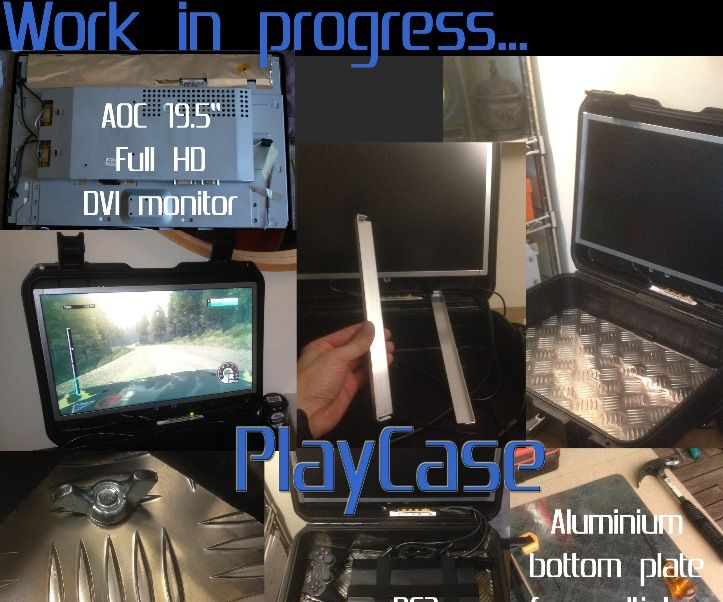 PlayCase: a portable console carrying case with Full HD Monitor, plug-in and play !