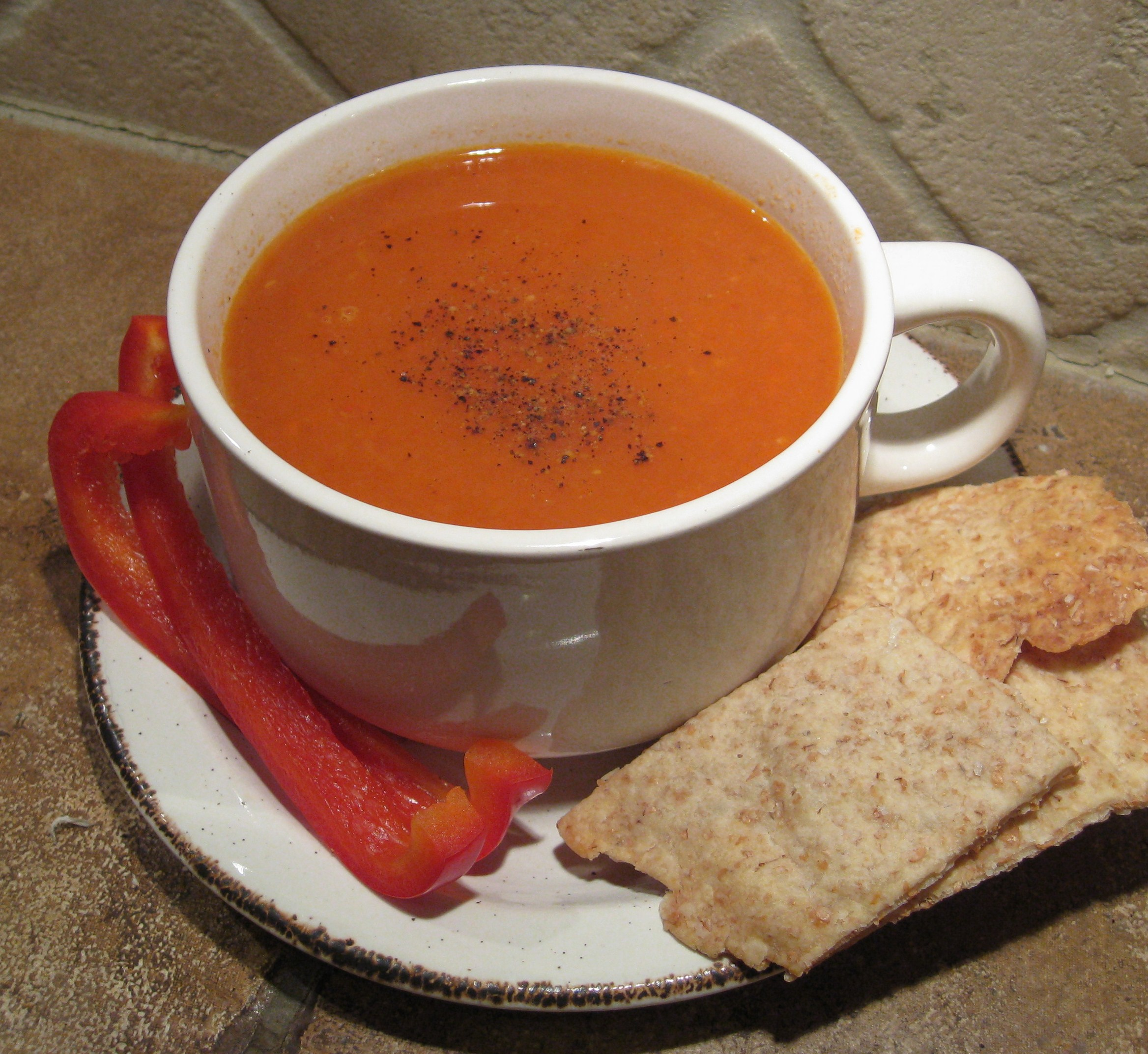 Roasted Red Pepper and Tomato Soup from Scratch