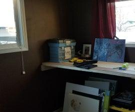 Removable Countertop in a Bedroom Art Studio (Three 2x10 Design)