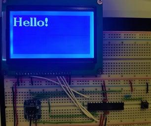 使用SPI和U8G2库与Atmega328的ST7920 LCD