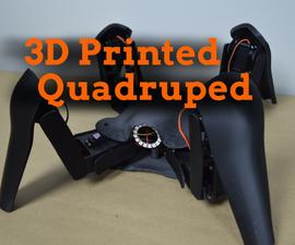 A 3D Printed Quadruped Robot
