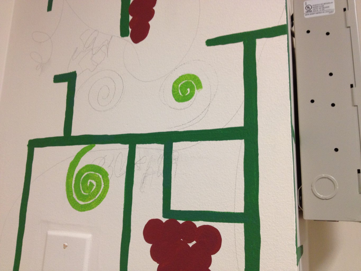 Draw and Paint the Circuit/vines and Grapes