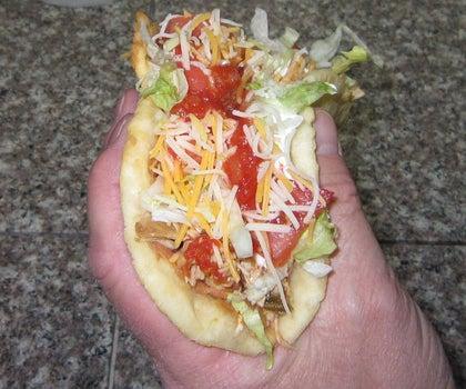 Fry Bread Chicken Tacos