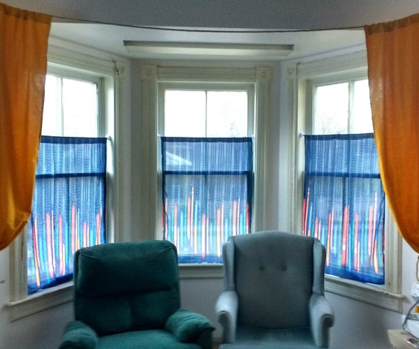 $7.25 Bay Window Curtains!