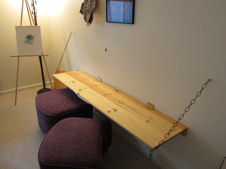 Wall-mounted Work Desk/chalkboard