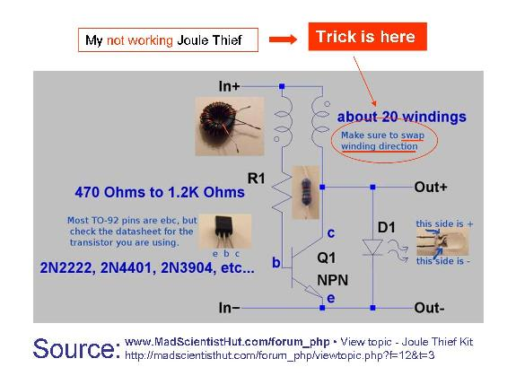 Joule Thief : It WORKED...at Last