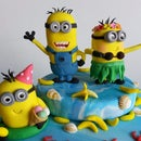 How to do fondant Minion topper