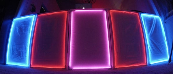 Lightweight Interactive LED DJ Panels