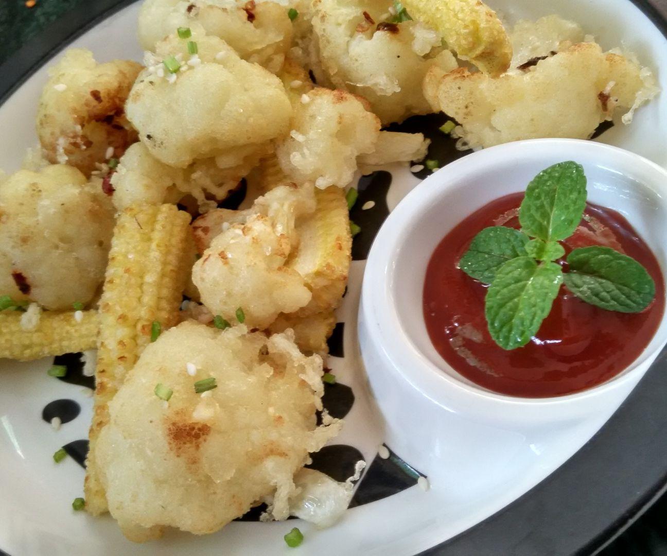 Crispy fried vegetables