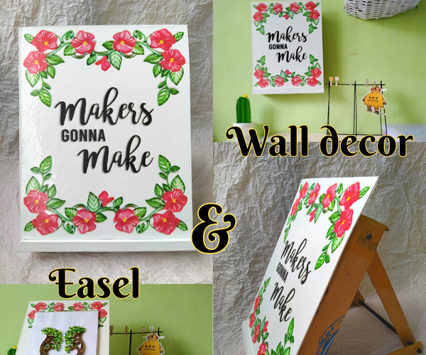 DIY Tabletop Easel and Wall Decor From Cardboard