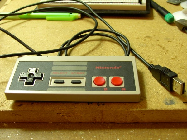 Convert a NES Gamepad to USB With Arduino