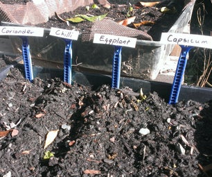Plant Labels From Disposable Razors