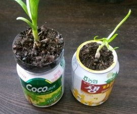 Hydroponic Soda Cans With Electronic Water Meter