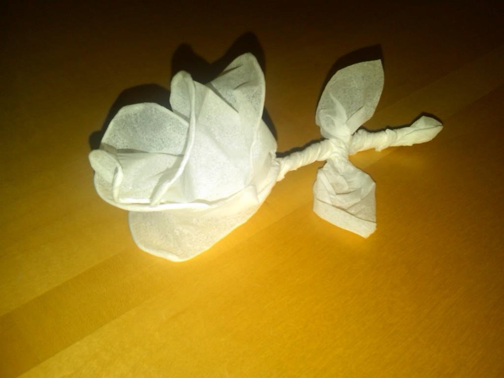 A Twist on a Tissue Rose