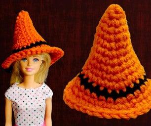 Halloween Mini Crochet Witch Hat