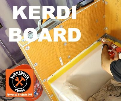 KERDI-BOARD: Waterproof a Shower in 1 Day