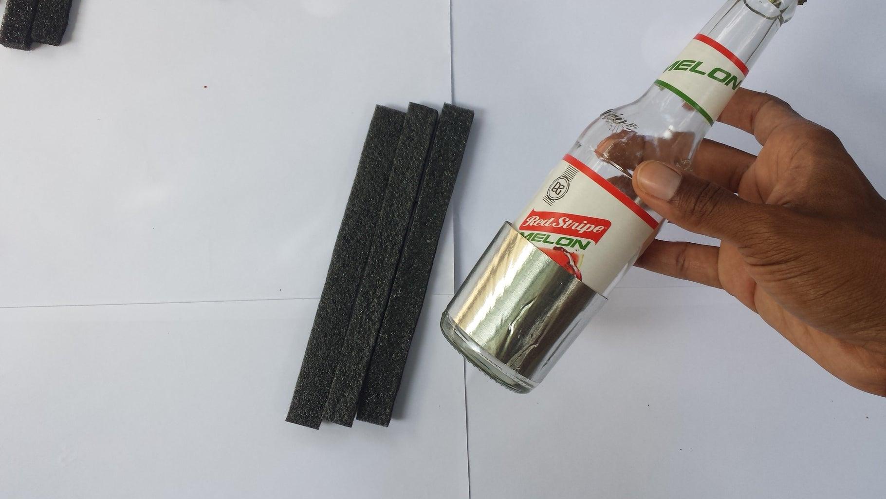 Sticking Foam to Foil Tape
