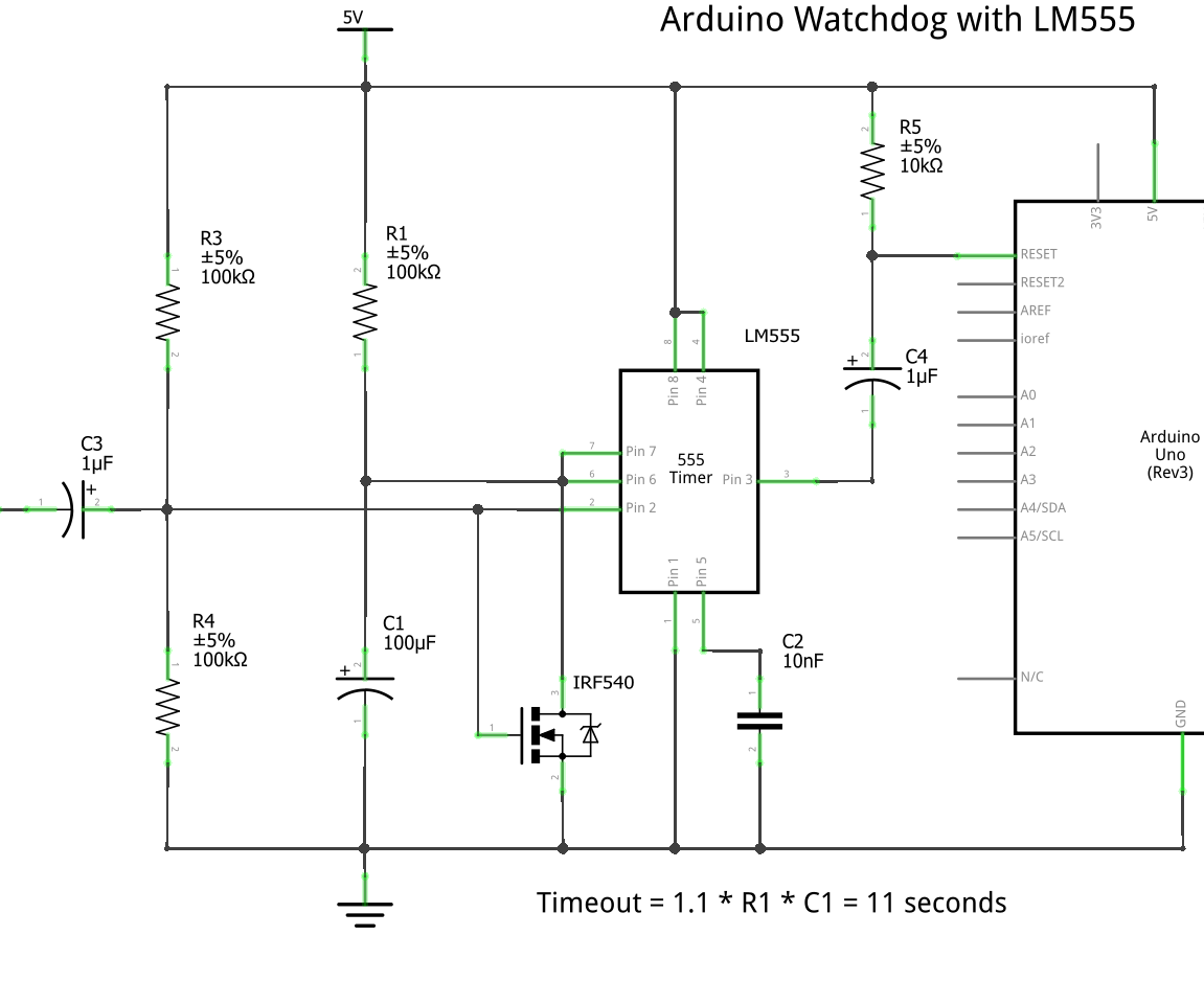 Lm555 Watchdog For Arduino 4 Steps Instructables