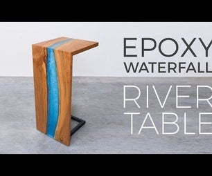 Epoxy Waterfall River Table