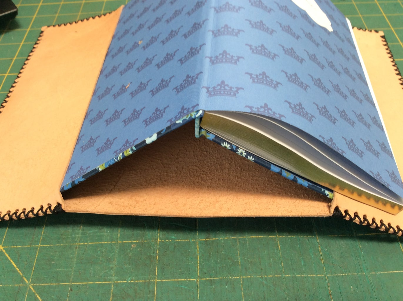 STITCHING YOUR COVER AND POCKET TOGETHER