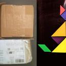 Tangram Fridge Magnets Using Waste Cardboard Box