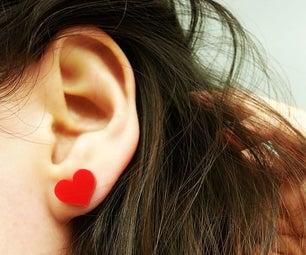 DIY Heart Stud Earrings...à La Laser