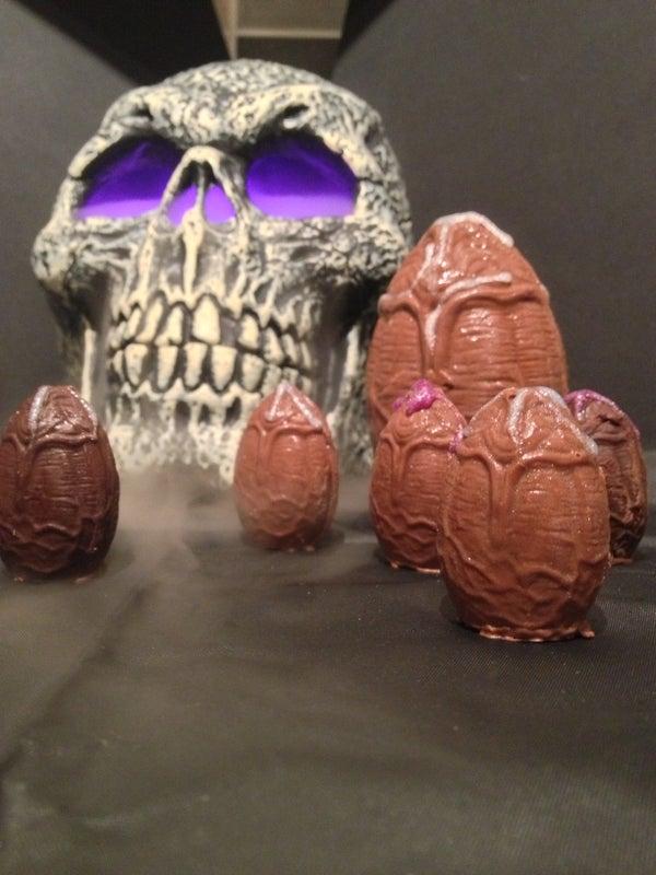 Alien Facehugger Chocolate Eggs.