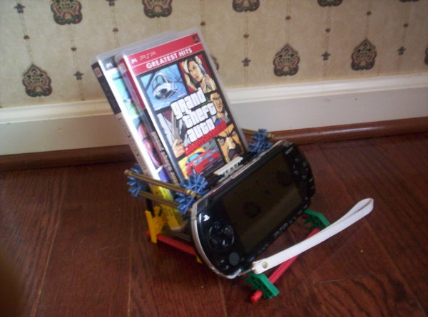Simple PSP Consol and Game Holder by Bannana Inventor