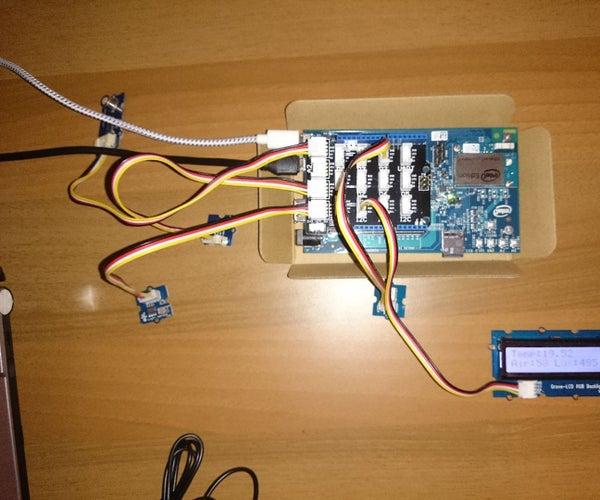 Intel Edison IoT Remote Environmental Parameters Monitor