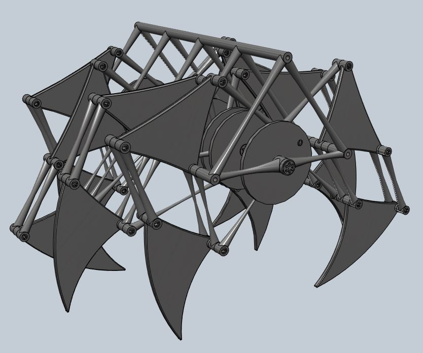 My 123D Jansen Strandbeest Mechanism