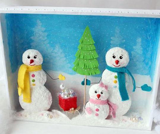 Сhristmas Snowmen Family