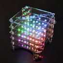 GlassCube - 4x4x4 LED Cube on Glass PCBs