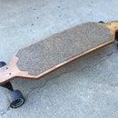 Homemade cork grip longboard