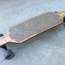 Homemade cork grip longboard