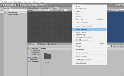 Create New Project & Import New Assets