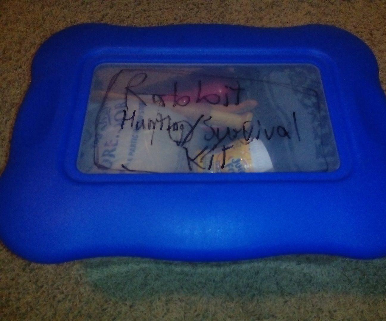 Rabbit hunting+cooking/survival kit
