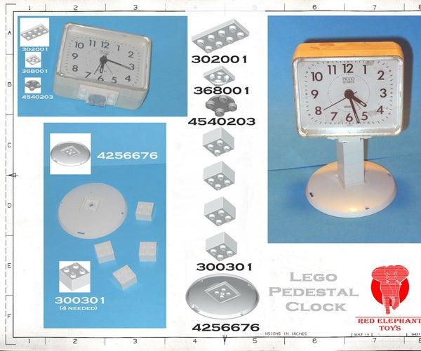 Lego Pedestal Clock