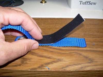 Sewing the Velcro, This Is Going to Be the Finest Kayak Paddle Leash Ever!
