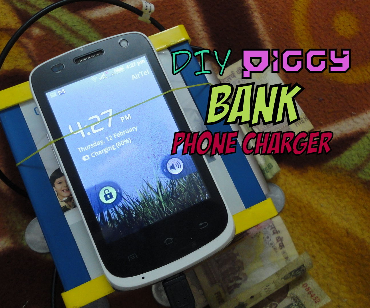 Piggy Bank Smartphone Charger (that still saves money!)