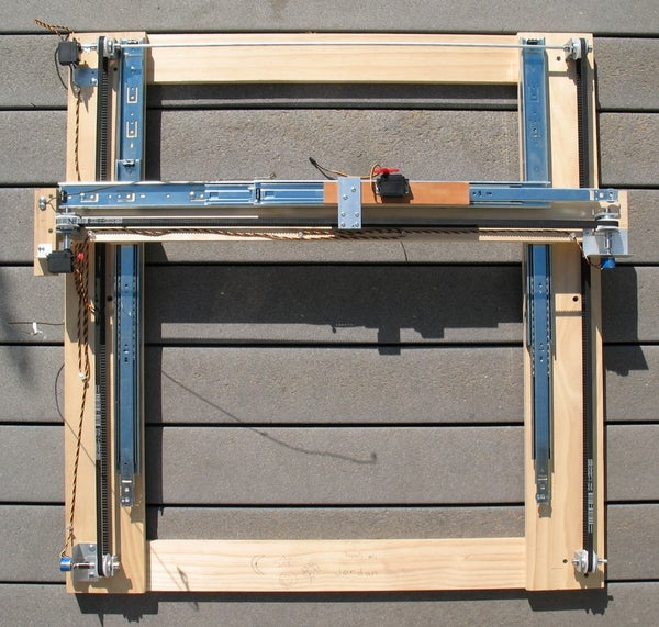 Low Cost Hobby Servo XY Table