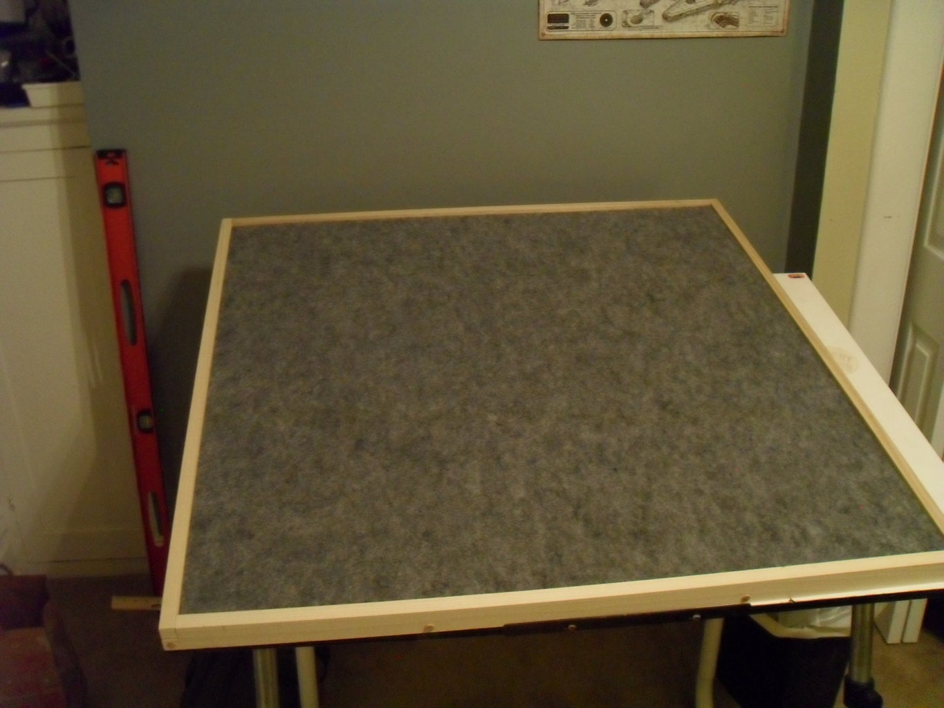 Dry Fit, Then Attach Board to Frame