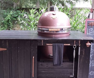 Cleaning and Waxing a Grill Dome Kamado Style Cooker