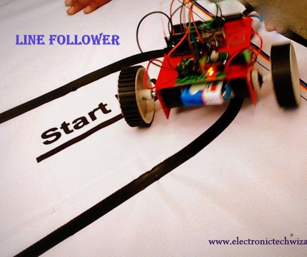 SIMPLE LINE FOLLOWER ROBOT(single Sensor)