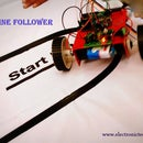 SIMPLE LINE FOLLOWER ROBOT(single Sensor)