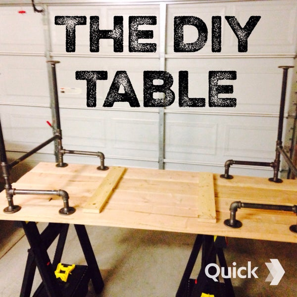 Black Iron Pipe Table